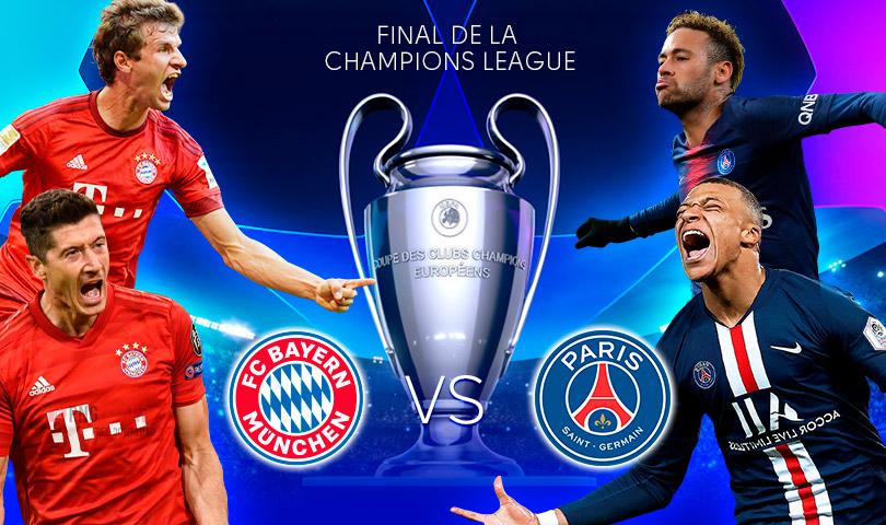 Bayern Múnich vs PSG Ver la final de la Champions League EN VIVO ONLINE por internet