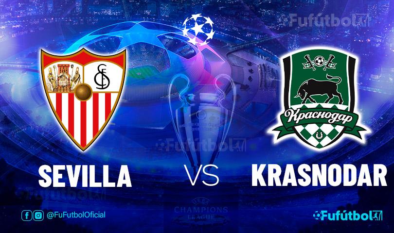 Ver Sevilla vs Krasnodar en EN VIVO y EN DIRECTO ONLINE por internet
